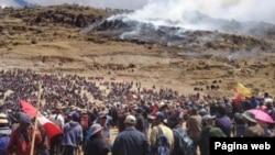 Pobladores en Perú decidieron imponer un nuevo bloqueo al acceso a la mina de cobre Las Bambas, al no llegar a un acuerdo en las negociaciones con la minera china MMG sobre compensaciones. Foto: biodiversidadla.org.