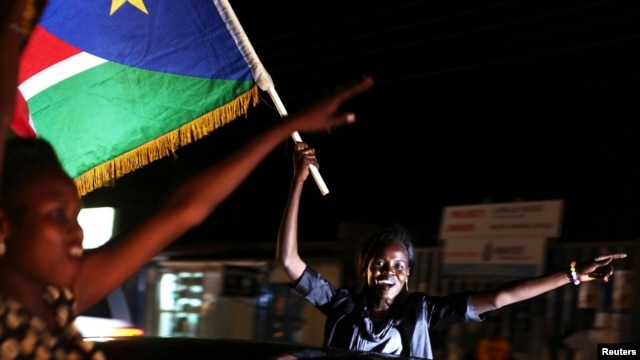 People celebrate the second anniversary of South Sudan becoming an independent state, Juba, July 9, 2013.