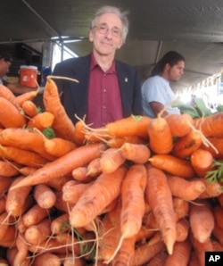 Bob Lewis with carrots