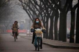 雾霾弥漫的北京