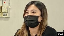 黃文萱批評港府恐嚇兼分化。(美國之音: 湯惠芸拍攝)