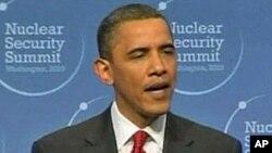 سهرۆکی ئهمهریکا باراک ئۆباما له کۆبوونهوهی ئاسایشی ناوهکی له واشنتن دهدوێت، سێشهممه 13 ی چواری 2010