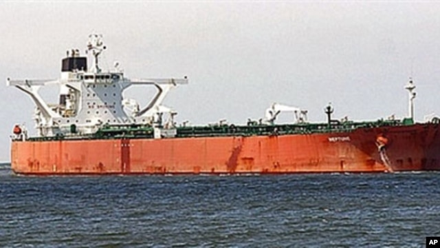 An undated photo of the 300,000-ton South Korean tanker Samho Dream at sea released in Seoul 05 Apr 2010