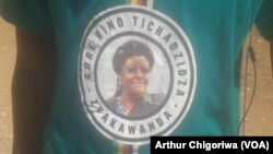 FILE: Chinhoyi University students wearing T-shirts donated by First Lady Grace Mugabe