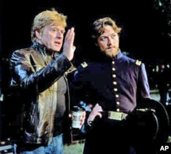 Robert Redford directs James McAvoy in 'The Conspirator.'