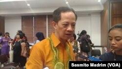 Deputi Bidang Perlindungan Perempuan dan Anak Kementerian Koordinator Bidang Pembangunan Manusia dan Kebudayaan, Ghafur Dharma Putra. (Foto: Sasmito Madrim/VOA)