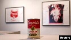 Las sopas Campbell de Andy Warhol, en Christie's de Nueva York en febrero pasado.