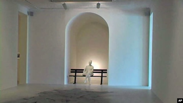 One of the pieces in the exhibit called 'September 11' at the Museum of Modern Art's Queens outpost, PS1, in New York, September 2011.