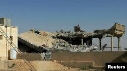 Instalaciones de la milicia Kataeb Hezbollá en Irak destruidas en un ataque de Estados Unidos el 29 de diciembre de 2019.