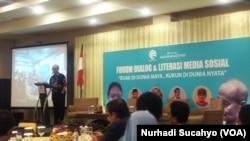 Forum dialog dan literasi media sosial di Yogyakarta, Sabtu 16 Maret 2019 (foto: VOA/ Nurhadi Sucahyo)