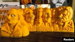 Kineska skulptura nacionlnog spomenika Maunt Rašmor napravljena od sira