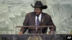 Rais wa Sudan Kusini Salva Kiir alipohudhuria baraza kuu la Umoja wa mataifa New York, Septemba 2011.