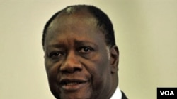 Presiden Pantai Gading yang diakui secara internasional, Alassane Outtara.