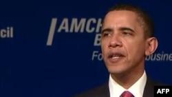 Tổng thống Obama nói rằng thế giới đang hành động để thực thi nghị quyết của Liên Hiệp Quốc cho phép dùng mọi biện pháp để bảo vệ thường dân
