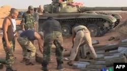 Pobunjenički borci u Libiji