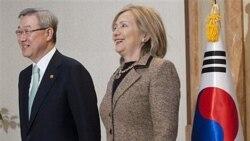 خانم کلینتون روز شنبه با کیم سونگ - هوان، وزیر امور خارجه کره جنوبی ملاقات کرد