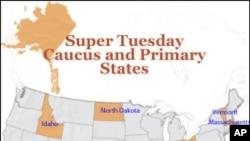 10 bang sẽ bỏ phiếu vào ngày Siêu Thứ Ba (Super Tuesday)