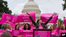 Manifestación proaborto en Washington. La aprobación en Texas de medidas restrictivas podría tener repercusiones nacionales.