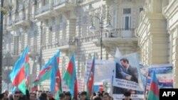 İranın Azərbaycandakı səfirliyi qarşısında bir gündə iki etiraz aksiyası keçirilib