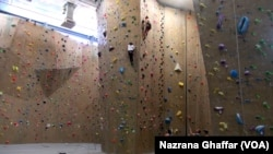 "A ""weekend warrior"" might choose to go to an indoor climbing gym for some exercise. This one is in Boulder, Colorado 2016. (AP Photo)"