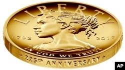 Se trata de una moneda conmemorativa con un valor de USD 100. Es la primera de una serie que retratará distintas razas cada dos años.