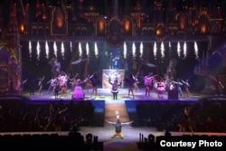 "Disney's ""The Beauty and the Beast"" Broadway show on stage in India."