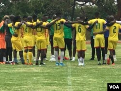 Zimbabwe Warriors at a training session in Harare.