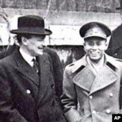 昂山将军与英国首相艾德礼