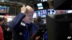 Нью-йоркская фондовая биржа. Нью-Йорк. 8 февраля 2016 г.
