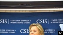 Secretary Clinton delivers remarks at CSIS on U.S. interests in the Americas.