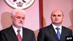 Premijer Srbije Mirko Cvetković (levo) i njegov kolega iz Republike Srpske Aleksandar Džombić