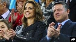 Jordan's King Abdullah and Queen Rania (file photo)