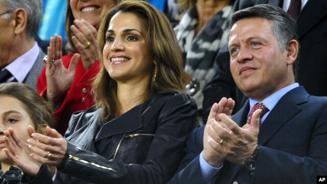 Jordan's King Abdullah and Queen Rania (file photo)