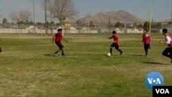 """El fútbol o """"soccer"""" como se lo conoce en EE.UU. se mezcla con la política en Nevada previo a las asambleas partidarias demócratas previstas para el 22 de febrero de 2020."""