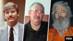 سه تصویر از آقای لوینسون قبل و بعد از ناپدید شدن.