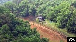 Wilayah demiliterisasi (DMZ) perbatasan Korea Selatan dan Korea Utara.