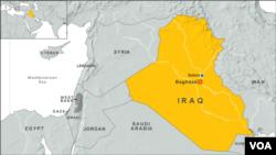 伊拉克地圖(VOA 英語新聞)