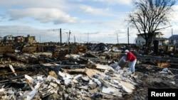 """桑迪""""超級風暴在紐約州造成嚴重破壞。(資料圖片)"""