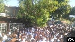 Manifestasyon nan Mirbalais apre antèman jounals Nehemie Joesph nan Mirbalais samdi 2 Novanm 2019 la