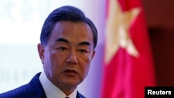 FILE - Chinese Foreign Minister Wang Yi.