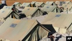 레바논 국경지역의 시리아 난민촌 (자료사진)