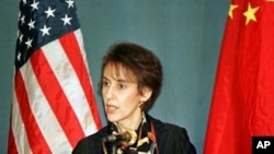U.S. Trade Representative Charlene Barshefsky speaks at a press conference on Thursday March 4, 1999.