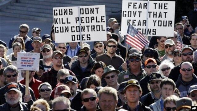 Một cuộc mít-tinh của những người ủng hộ quyền sở hữu súng tại Nashville, Tennesee, ngày 19/1/2013.