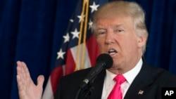 Le candidat républicain Donald Trump lors d'une conférence de presse à Tampa, Floride, le 27 juillet 2016.