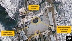 Foto satelit menunjukkan lokasi ujicoba nuklir Korea Utara di fasilitas nuklir Punggye-ri (foto: dok).