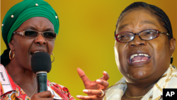 WARRING: First Lady Grace Mugabe and Vice President Joyce Mujuru (Collage by Ntungamili Nkomo)