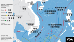 南中國海主權爭議示意圖
