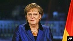 德国总理默克尔在柏林发表新年致词