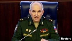 Jenderal Sergei Rudskoi, Kepala departemen operasi militer Rusia memberikan keterangan kepada media (foto: dok).