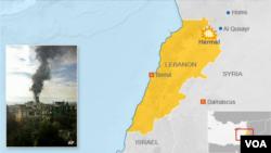 Bom mobil meledak di dekat sebuah gedung pemerintah di Hermel, Lebanon (Foto: peta).